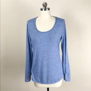 Lucy tech blue long sleeve shirt M